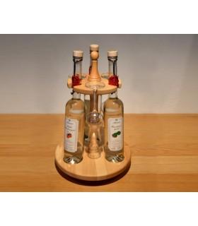 Tischbar für 3 Flaschen incl. 3 Destillatgläsern (ohne Flaschen)