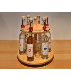 Tischbar für 6 Flaschen incl. 6 Destillatgläsern (ohne Flaschen)